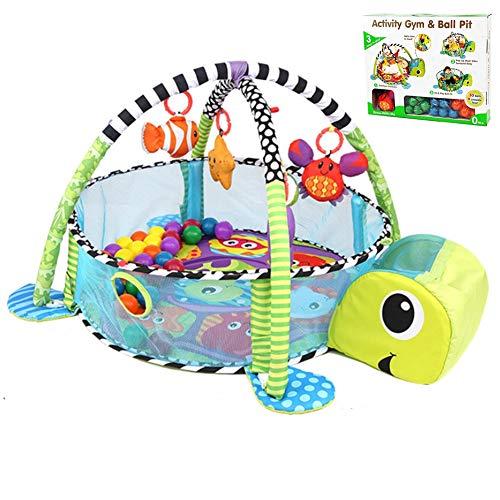 3-in-1-Babyspielmatten Schildkröten-Baby-Turnhallen Lebendiges Dorf Smart Activity-Fitnessstudio Deluxe-Spieltisch für Kleinkinder - In den Ozean Journey of Discovery Activity Gym
