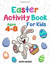 Easter Activity Book For Kids Ages 4-8: A Fun Easter Workbook Gift Book For Boys and Girls With Coloring, Learning, Mazes, Dot to Dot, Puzzles, Word Search and More!