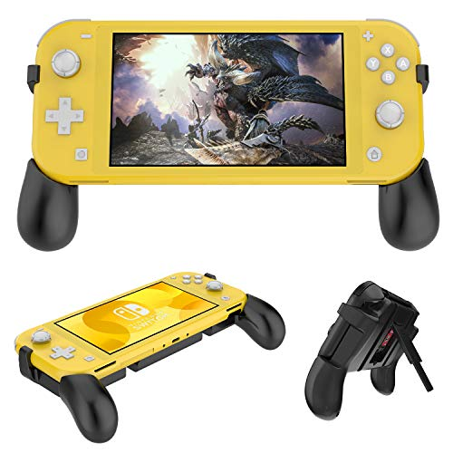 Hand Grip for Nintendo Switch Lite, Foldable Ergonomic Comfort Switch Gaming Grip Stand with 2 Game Card Slots for Nintendo Switch Lite Console and Jon-Con in Handheld Gamepad Mode