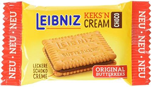 Leibniz Keks'n Cream in der Vorratspackung — Butterkekse mit Schoko-Creme Füllung — Schoko-Kekse in der Großpackung, einzeln verpackt — Doppel-Schokoladenkekse im Vorrats-Karton (1 x 1.824 kg)