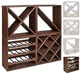 ts-ideen scaffalatura cubica per bottiglie di vino, impilabile, colore: marrone...