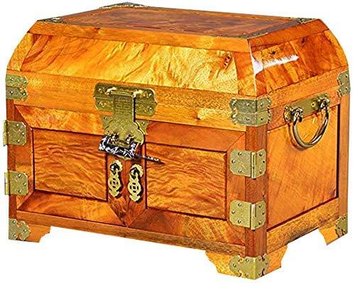 JHSHENGSHI Hermosa Caja de joyería, Caja de Reloj de Almacenamiento de joyería de Caoba, Caja de colección Vintage de Madera, Accesorio de Regalo de Boda