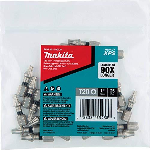 Makita E-00739 Impact XPS T20 Torx 1' Insert Bit, 25/pk, Bulk