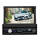 Vipxyc 7-Zoll Auto DVD/CD Player, Einziehbares Navigations Bluetooth Autoradio mit Rückfahrkamera...
