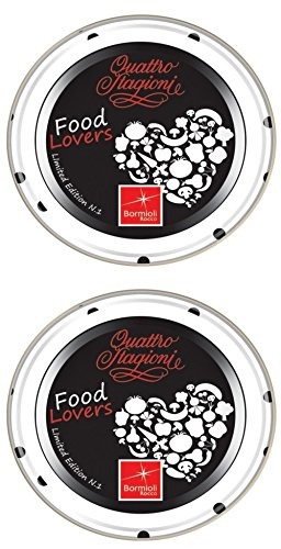 Bormioli Rocco : Quattro Stagioni Food Lover Lids Black, 2.7inches (70mm) (Pack of 2)
