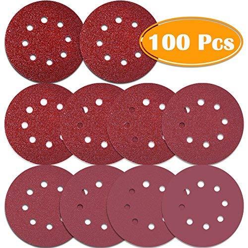 """3/"""" Inch Hook Loop Sanding Disc 40 80 100 120 180 320 400 600 800 1000 1500 Grit"""