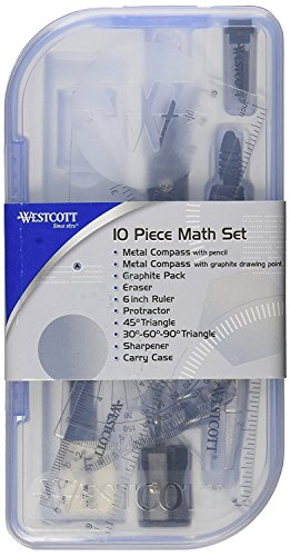 Westcott 10 Piece Math Set (500-15420), Case of 144