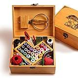 ZAIZAI Set de Caja de Agujas Inicio Boda Empuje de Alambre Bolsas de Almacenamiento de Mano pequeña Herramientas de Costura (Color : B)