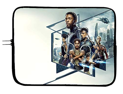 Black Panther Superhero Laptop Sleeve Bag 13 13.3' Mouse Pad Surface Mac Book Pro Case/Mac Book Air Surface Pro Laptop/Tablet Water Repellent Neoprene Cushioned Case