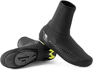 ROCKBROS(ロックブロス)自転車 シューズカバー サイクル 靴カバー 防風 撥水 秋冬 ビンディングシューズ対応 再帰反射 滑り止め付き 男女兼用