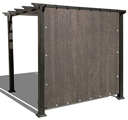 Alion Home Sun Shade Panel Privacy Screen with Grommets on 4 Sides for Outdoor, Patio, Awning, Window Cover, Pergola or Gazebo -200 GSM (10' x 6', Mocha Brown)