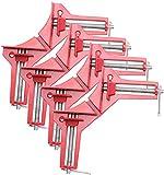 Pinze ad angolo retto a 90°, 4 pezzi – Morsetto per giunti angolari – Supporto angolare, lavorazione del legno – Pinze per legno – Pinze per legno – Supporto per angolo di cornice