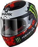 Shark Motorradhelm RACE-R PRO LORENZO MONSTER MAT 2018 KRG, Schwarz/Weiss/Rot, S