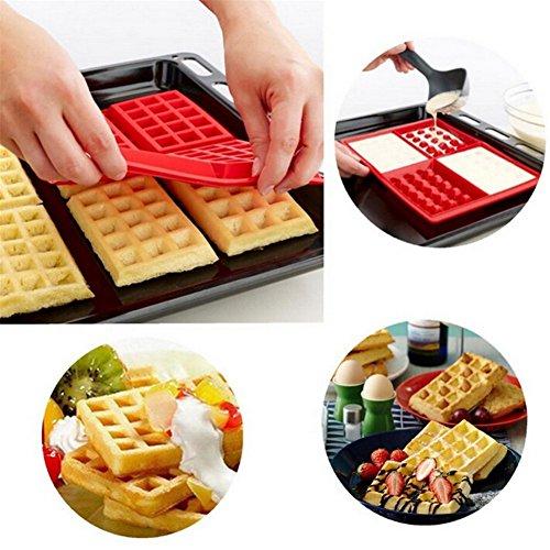 Affe en silicone 1 x sécurité 4-cavity Poêle à Gaufres Chocolat Gâteau Moule Moule de cuisson Outils de cuisine