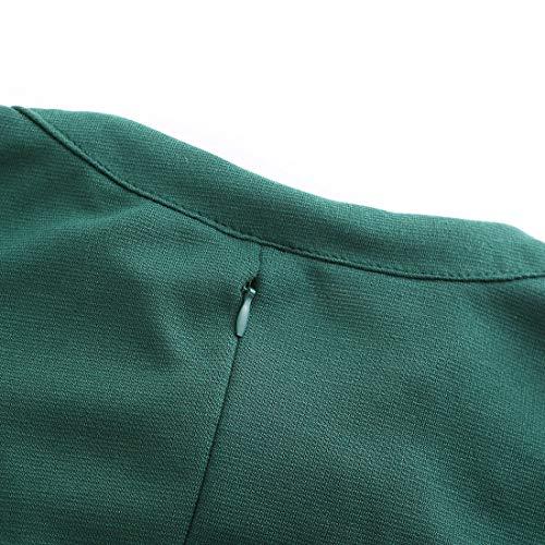 Ez-sofei Women's Vintage 1940s Open Chest Cocktail Swing Dresses S Teal Green