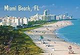 Miami, Miami Beach, South Beach, City Skyline, Florida, Souvenir Magnet 2 x 3 Photo Fridge Magnet