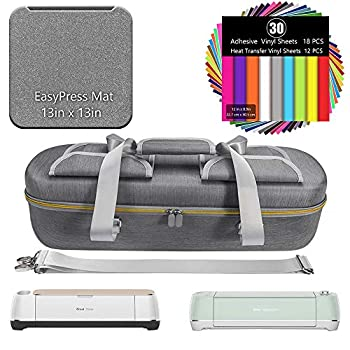 HIJIAO Hard EVACarrying Case Compatible with Cricut Explore Air 2、Cricut Maker and Accessories,Waterproof Drop-Resistant Impact-Resistant and Anti-Extrusion Gray