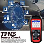 Autel MaxiTPMS TS501 TPMS Relearn Tool Automotive Scan Tool with Activate TPMS Sensors/TPMS Sensor Programming/Program… 11 【Upgraded Version of TS408, 2021 Newest】TS501 TPMS Tool can diagnose newest models up to 2020 with frequent updates. It packed ALL TPMS service options: TPMS programming(MX-Sensors), sensors Relearn/Activation, TPMS Reset and TPMS health diagnose, read sensor data, key fob frequency test. Please send VIN to : ❤Autelonline @outlook.com❤ CHECK COMPATIBILITY. 【TPMS Programming】 TS501 TPMS Programming Tool enables all car enthusiasts to program sensor data to Autel MX-Sensors with ease, saving you the money and trip to a dealership. With TS501, you can program AUTEL MX-Sensor (315/433MHz) with 4 programming options: Copy By Activation, Copy By Manual Input, Auto Create and Copy by OBD( Not available with TS408) to replace the faulty sensor with low battery life or one that is not functioning well. 【Relearn All TPMS Sensors】TS501 has added Relearn by OBD comparing with TS408. To turn off the TPMS warning light after replacement, you need to relearn the sensors to the vehicle! Autel TS501 TPMS Relearn Tool provides 3 ways of on-tool relearn precedures to relearn both OE and aftermarket sensors: Stationary Relearn, Automatic Relearn & OBD Relearn.