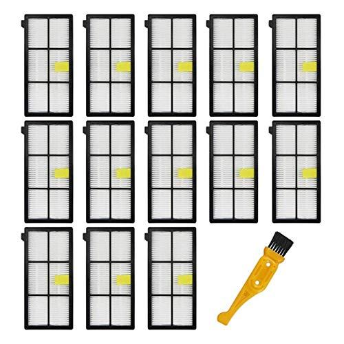 QIBIN 14 piezas de repuesto de filtros Hepa compatibles con Irobot Roomba 870/800/880/960/980 Robotic Vacuum Roomba (serie 800 900) accesorios (color: como se muestra) (color: como se muestra)