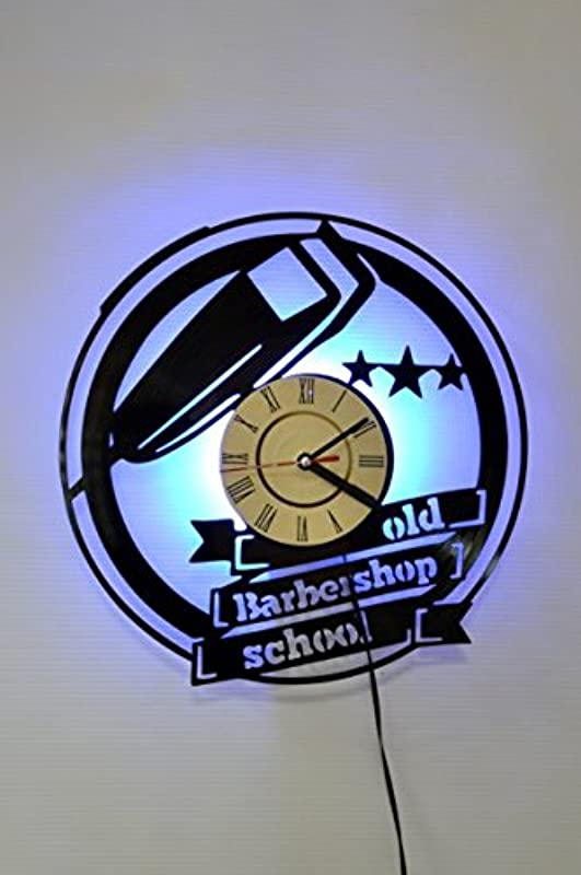 Old Barbershop School Design Wall Light Night Light Function Car Original Home Interior Decor Wall Lamp Perfect Gift Blue