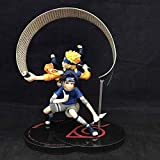 Uzumaki Naruto Y Sasuke Uchiha Animado Modelo De Acción Estatua Figura Decoración Merchandising Bustos Maquetas 19cm,A