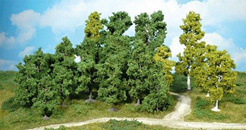 Heki 1951 Super Artline Blattbäume, 14 Stück, Höhe 12 cm, Mehrfarbig