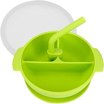 Kungfu Mall Carino bambini Baby Learning ciotola piatto con ventosa e Sensing Cucchiaio Set