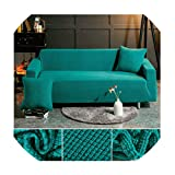 JUKA Fabric Sofa Cover Elastic Solid Color Sofa Covers for Living Room Sectional Couch Cover Sofa Slipovers,Color 1,1-seat 90-140cm
