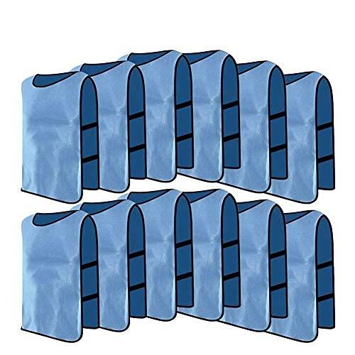 12pcs Petos de Entrenamiento Petos de Fútbol para Adultos (Color : Azul)