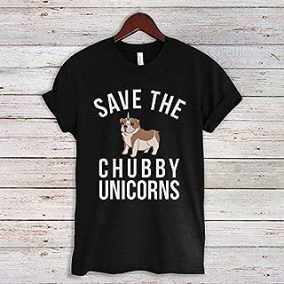 Save the chubby unicorns T-shirt, English Bulldog Shirt, Dog lovers Unisex Tshirt, Funny Dog Quote Tee Shirts, Bulldog Gifts