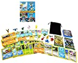 Pokemon Ultimate Gift Bundle: 2 Factory Sealed Card Packs, 50 Cards, 4 Movies, 12 Minifigures