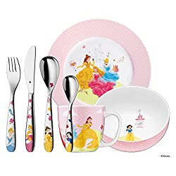 "WMF Kinder Besteck Kindergeschirr Set 7-teilig ""Princess"", poliert"