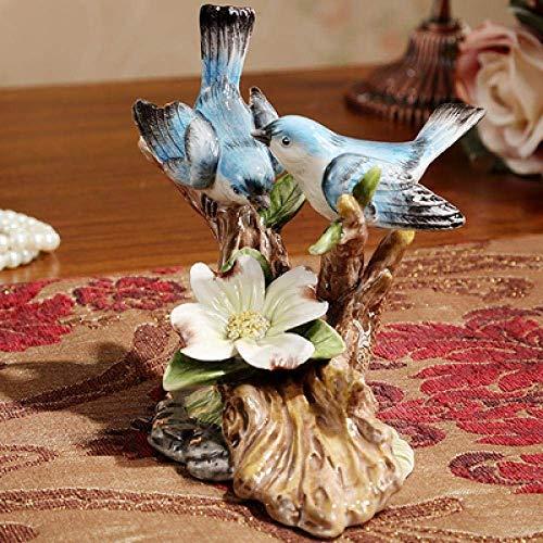 ZLININ Decoraciones Arte Artesanía Hogar Sala de estar vino enfriador adornos cerámica urpas aves 2
