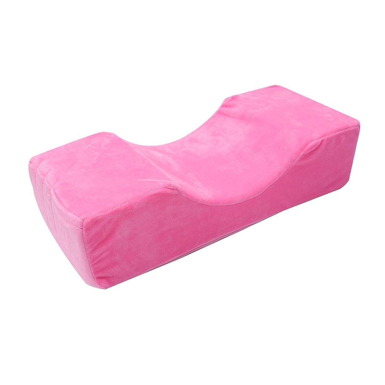 無駄若者フェローシップHealifty 接木まつ毛エクステンションピローメモリーカーブエステサロンピロー(ピンク)