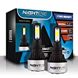 NIGHTEYE 2x 72W 9000LM H7 LED Phare Auto Car Lampe Feux Conversion Ampoule Light 6500K - 3 ans de...
