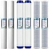 Ylight Juego de prefiltro de Repuesto para el Sistema de Filtro de Agua de ósmosis inversa 2 Conjuntos de Etapa 1, 2 y 3
