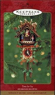 Hallmark Keepsake Ornament Time for Joy Clock 2000