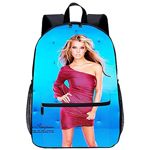 Mochila Infantil con 3D mochila para niño-Jessica Simpson-Adecuado para: estudiantes de primaria y secundaria, la mejor opción para viajes al aire...