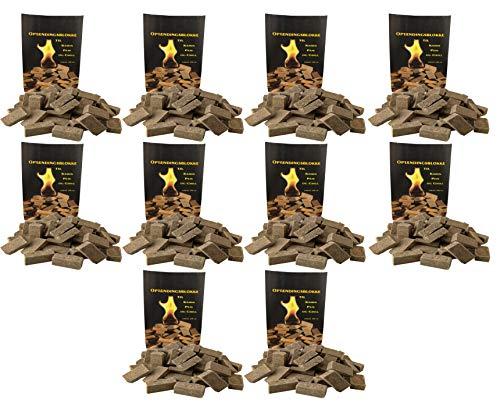 Norr-Dan 10 x 100 (insgesamt also 1000 Stück) natürlicher Ofenanzünder aus Holzfaser # Grillanzünder Kaminanzünder Feueranzünder Anzündwürfel Anzündhilfe Holzanzünder