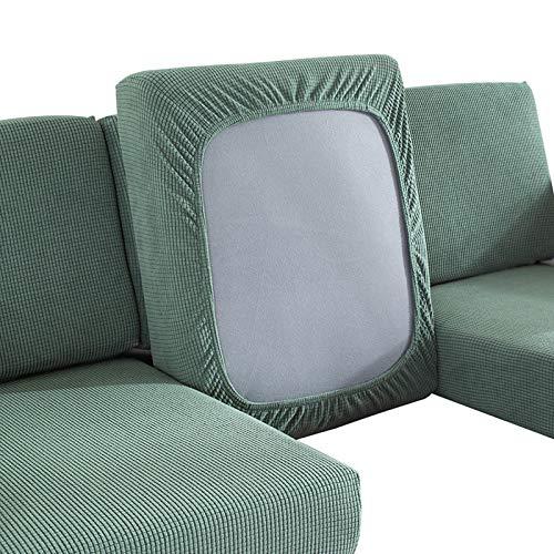 Fengshengli - Cojín para sofá o salón, decoración del hogar, asiento de dormitorio, funda de repuesto elástica para muebles de protección elástica sólida (2 asientos), color verde