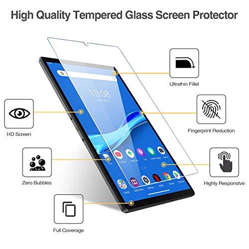 [2 Stück] ProCase Panzerglas Displayschutzfolie für Lenovo Tab M10 Plus 2020 Release(Model: TB-X606F TB-X606X), Schutzfolio Screen Protector, Schutzglas –Klar
