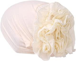 Muslim Hat Women Flower Ruffle Cancer Chemo Beanie Scarf Turban Head Wrap Cap