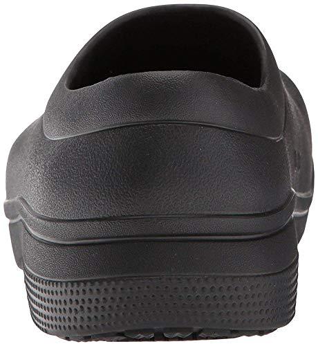 Crocs On The Clock Work Slipon Medical Professional Shoe, Black, 13 US Men/ 15 US Women M US