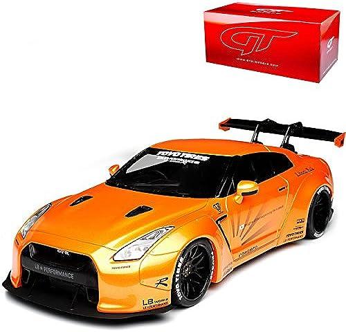 GT Spirit Nissan Skyline R35 GTR Liberty Walk Performance Orange Nr 742 1 18 Modell Auto mit individiuellem Wunschkennzeichen
