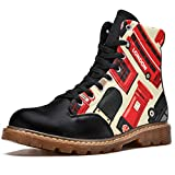 Bennigiry London Great Britain Icon Set Botas de Invierno Zapatos clásicos de Lona de caña Alta para Mujer