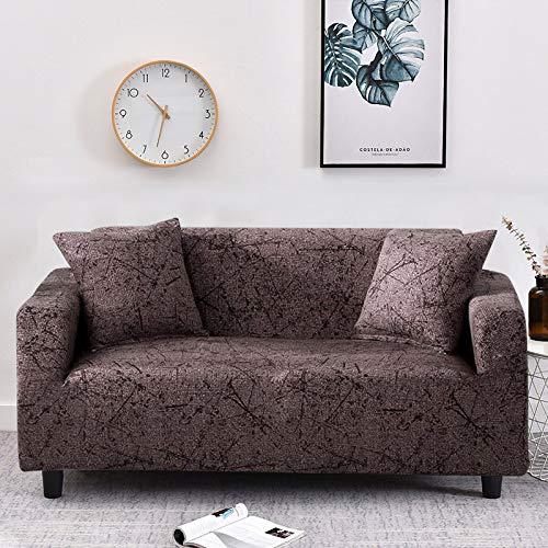 WXQY Imitation Leinenmuster elastische Sofabezug elastische Sofabezug Wohnzimmer Sofabezug Sessel Möbel Schutzhülle A16 2-Sitzer