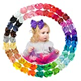 30 Pieces 6 inches Baby Girls Hair Bows Clips Boutique Grosgrain Ribbon Bow Pinwheel Barrettes For Babies Kids Toddlers Teens Gifts