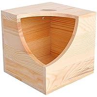 Casa nido Insun de madera, cabaña para chinchillas, cobayo, hámster, mascotas, juguete 16cm x 16cm x 16cm, 2 unidades