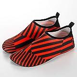 EVFIT Zapatos de Verano Soft Bottom Diving Señoras De Los Hombres Al Aire Libre De Los Zapatos De Wading River Natación Rueda De Ardilla Ceñido Calzado (Color : Red Black, Size : 38-39)
