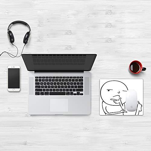 Mauspad 25 x 32 cm,Humor, nachdenklich Meme trinkt Kaffee mit seinen Füßen Warum Icon Mood,Mikrofaser Verbessert Geschwindigkeit und Präzision, Rutschfest Gummierte Unterseite Waschbar Verschleißfest